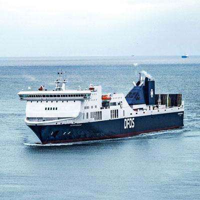 image of a modern DFDS ferry