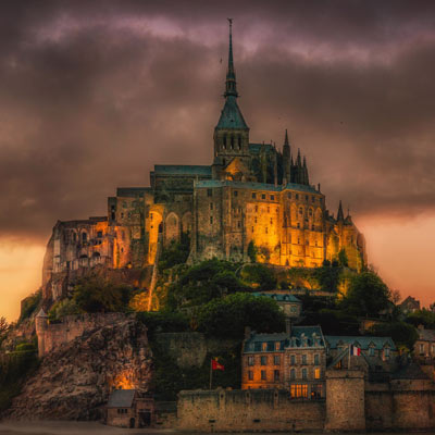 image of the cathedral of Mont Saint Michel
