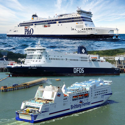 image of a range of ferries to France