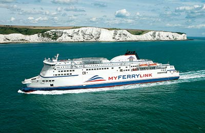 image of a now defunct cross channel ferry operator, MyFerryLink, formerly SeaFrance